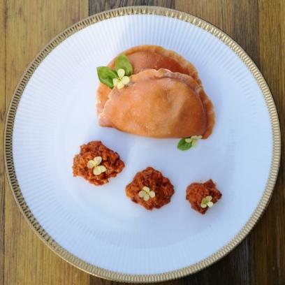 Pierogi mit Putenfleisch und getrockneten Tomaten